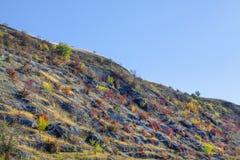 Δύσκολος λόφος το φθινόπωρο στοκ εικόνες