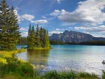 Δύσκολα βουνά, λίμνη, Καναδάς Στοκ Φωτογραφίες