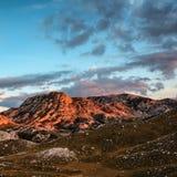 Δύσκολα βουνά της πλατείας του Μαυροβουνίου Στοκ Εικόνες