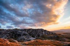 Δύσκολα βουνά του Μαυροβουνίου Στοκ Εικόνα