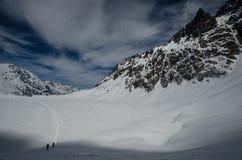 Δύσκολα χειμερινά βουνά Στοκ εικόνα με δικαίωμα ελεύθερης χρήσης