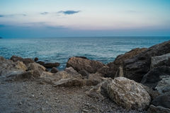 Δύσκολη ακτή του ακρωτηρίου Kaliakra, Βάρνα, Βουλγαρία Μαύρης Θάλασσας Στοκ φωτογραφίες με δικαίωμα ελεύθερης χρήσης