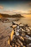 Δύσκολη ακτή του Dorset στο ηλιοβασίλεμα Στοκ φωτογραφίες με δικαίωμα ελεύθερης χρήσης