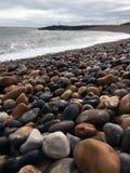 Δύσκολη βρετανική παραλία στοκ εικόνες