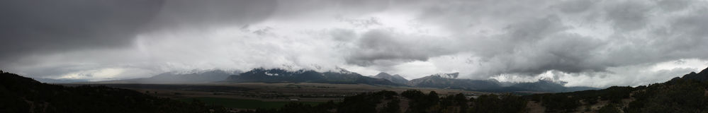 Δύσκολη θύελλα βουνών Στοκ εικόνες με δικαίωμα ελεύθερης χρήσης