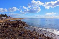 Δύσκολη παραλία θλγραν θλθαναρηα Στοκ εικόνες με δικαίωμα ελεύθερης χρήσης