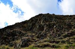 Δύσκολη πλευρά Hill σε Arthur& x27 κάθισμα του s στη Σκωτία Στοκ φωτογραφίες με δικαίωμα ελεύθερης χρήσης