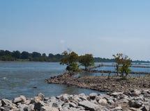 Δύσκολη όχθη ποταμού Στοκ Εικόνες