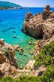 Δύσκολος κόλπος θάλασσας στη πλευρά Paradiso, Σαρδηνία, Ιταλία Στοκ εικόνες με δικαίωμα ελεύθερης χρήσης