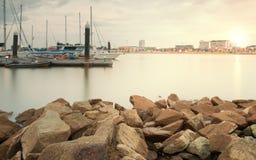 Δύσκολος ποταμός κόλπων μαρινών Yacth Στοκ φωτογραφίες με δικαίωμα ελεύθερης χρήσης