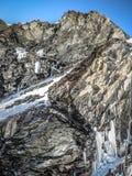 Δύσκολο βουνό των γαλλικών ορών στοκ εικόνα