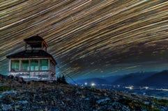 Δύσκολο βουνό Startrails στοκ φωτογραφίες