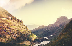 Δύσκολο θερινό ταξίδι τοπίων βουνών Στοκ Φωτογραφίες