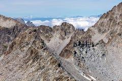 Δύσκολο τοπίο υψηλών βουνών Στοκ φωτογραφία με δικαίωμα ελεύθερης χρήσης