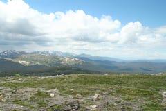Δύσκολο Vista βουνών Στοκ Εικόνα