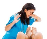 Δύσοσμα πόδια στοκ εικόνες