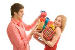 Δώρα για σας! στοκ φωτογραφία με δικαίωμα ελεύθερης χρήσης