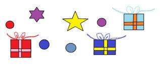 Δώρα και διακοσμήσεις Χριστουγέννων Στοκ Φωτογραφίες