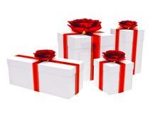 δώρα κιβωτίων διανυσματική απεικόνιση