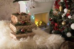 Δώρα κοντά στα Χριστούγεννα Στοκ εικόνα με δικαίωμα ελεύθερης χρήσης