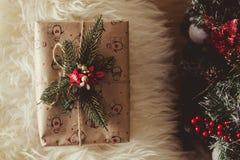 Δώρα κοντά στα Χριστούγεννα Στοκ Φωτογραφίες