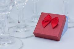 Δώρα μεταξύ των γυαλιών Στοκ Εικόνες