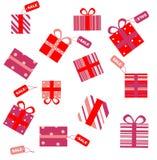 Δώρα με τις ετικέττες πώλησης απεικόνιση αποθεμάτων