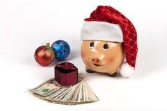 δώρα τραπεζών piggy Στοκ εικόνα με δικαίωμα ελεύθερης χρήσης