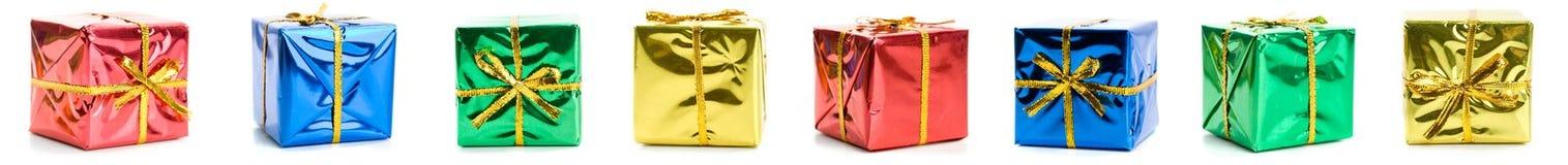 Δώρα: Υπόλοιπος κόσμος συνόρων των μικροσκοπικών τυλιγμένων δώρων Στοκ εικόνες με δικαίωμα ελεύθερης χρήσης