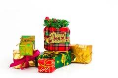 Δώρα Χριστουγέννων, διακοπές Στοκ εικόνα με δικαίωμα ελεύθερης χρήσης