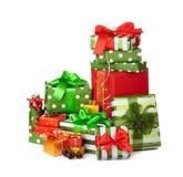 δώρα Χριστουγέννων κιβωτί&om Στοκ Εικόνα