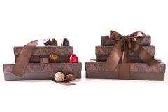 Δώρα Χριστουγέννων με την καραμέλα Στοκ Εικόνα