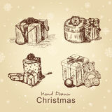δώρα Χριστουγέννων που τί&theta Στοκ Εικόνα