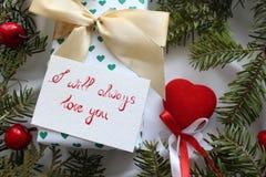 Δώρο για Valentine& x27 ημέρα του s Στοκ Εικόνες