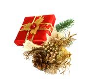 δώρο διακοσμήσεων Χριστουγέννων κιβωτίων Στοκ φωτογραφίες με δικαίωμα ελεύθερης χρήσης