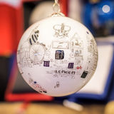 Δώρο διακοσμήσεων χριστουγεννιάτικων δέντρων μπιχλιμπιδιών του Λονδίνου Στοκ Εικόνες