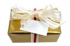 δώρο καρτών χρυσό Στοκ εικόνα με δικαίωμα ελεύθερης χρήσης