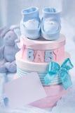 δώρο κιβωτίων λειών μωρών λί&ga Στοκ φωτογραφίες με δικαίωμα ελεύθερης χρήσης