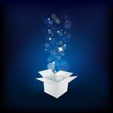 δώρο κιβωτίων μαγικό διανυσματική απεικόνιση