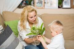 δώρο λουλουδιών mom μου Στοκ Εικόνα