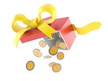 Δώρο με το ευρο- νόμισμα απεικόνιση αποθεμάτων