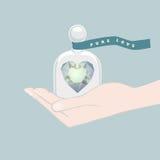 Δώρο μιας καρδιάς που συμβολίζει την καθαρή αγάπη Στοκ Φωτογραφία