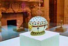 Δώρο Πάσχας αυγών Faberge στην αυτοκρατορική οικογένεια στοκ εικόνα με δικαίωμα ελεύθερης χρήσης