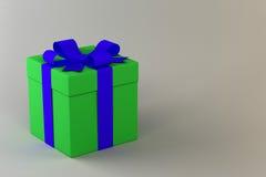 Δώρο σε ένα απλό υπόβαθρο Στοκ Φωτογραφίες