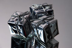 δώρο τρία κιβωτίων Στοκ εικόνα με δικαίωμα ελεύθερης χρήσης