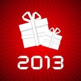 Δώρο Χριστουγέννων από τη Λευκή Βίβλο, νέα κάρτα έτους Στοκ φωτογραφίες με δικαίωμα ελεύθερης χρήσης