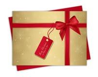 δώρο Χριστουγέννων καρτών Στοκ Φωτογραφία