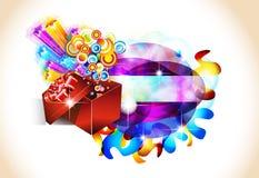 δώρο Χριστουγέννων καρτών &ga διανυσματική απεικόνιση