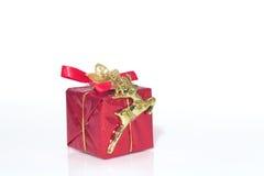 δώρο Χριστουγέννων κιβωτίων Στοκ φωτογραφία με δικαίωμα ελεύθερης χρήσης