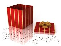 δώρο Χριστουγέννων κιβωτί& Στοκ Φωτογραφίες